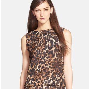 Lafayette 148 Maddie leopard top